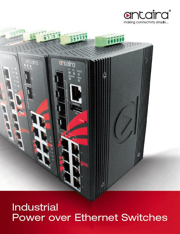 Antaira Power over Ethernet 2018 Catalog