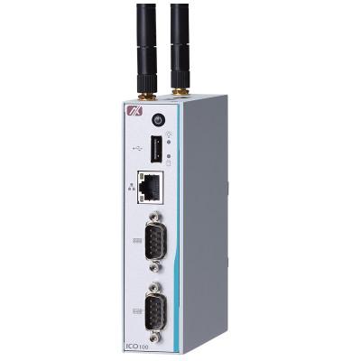 Axiomtek ICO100-839 Low-Cost Industrial IoT Gateway, Intel Celeron, Wireless Options