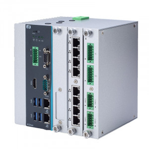 Axiomtek ICO500-518 DIN-rail Fanless Embedded System, Intel Celeron or Core Processor
