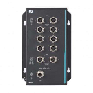 Axiomtek TEN710MW 10-Port Managed PoE Switch, EN 50155 / 45545-2 Rail Rated