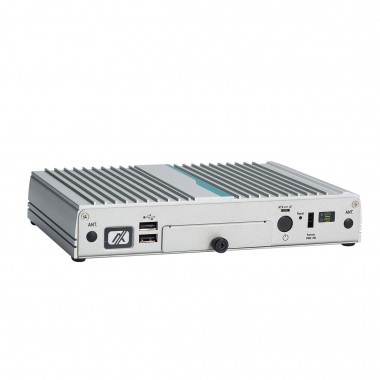 Axiomtek eBOX100-312-FL Fanless Embedded Computer, Celeron or Pentium CPU