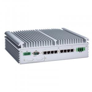 AxiomTek eBOX671-517-FL Fanless Computer, i7/i5/i3 and Celeron, 8 Power over Ethernet ports