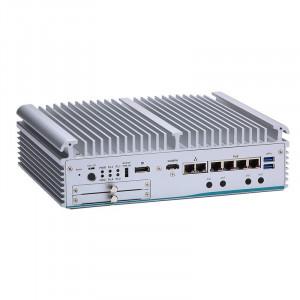 AxiomTek eBOX671-521-FL Fanless Computer, i7/i5/i3 and Celeron, 6 Ethernet ports, MXM slot