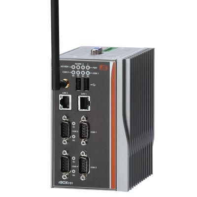 Axiomtek rBOX201-4COM Fanless Computer, AMD LX800