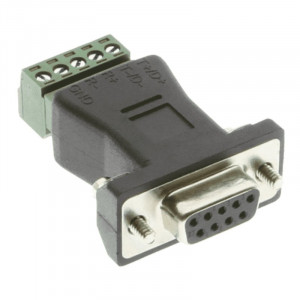 DB-9 to 5-pin Terminal Block RS-422/485 Adapter, AD-DB9F-TB5P35