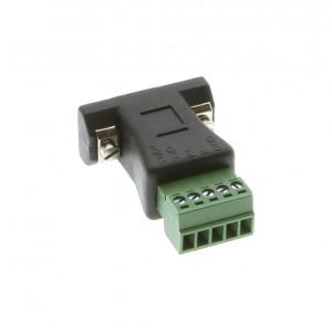 DB-9 Female to 5-pin 3.5mm Terminal Block RS422/485 Adapter, AD-DB9F-TB5P35