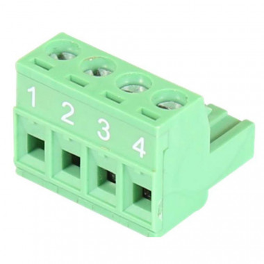 TB-4P-Male 4-pin Terminal Block Mates to Power Connector on Antaira's Switches