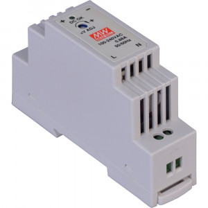 Antaira DR-15 15W Industrial DIN-Rail Power Supply, 12V or 24V Output
