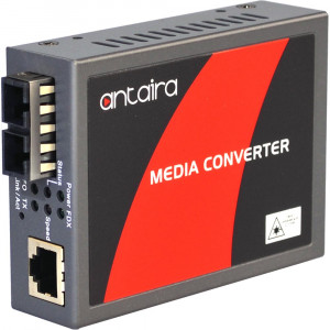 Antaira FCU-3002A-SC Gigabit Ethernet to 1000SX Media Converter, Multi-Mode