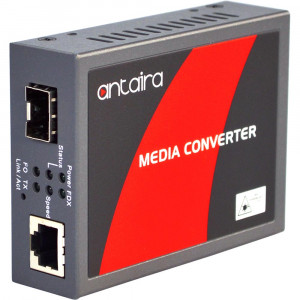 Antaira FCU-3002A-SFP Gigabit Ethernet to 1000SX/LX Media Converter, SFP
