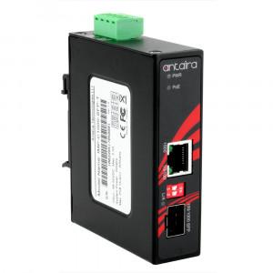 Antaira IMP-C1000-SFP (-T) Gigabit Ethernet to SFP Fiber Media Converter with PoE+
