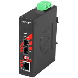 Antaira IMC-C1000 (-M, -S, -T) Fiber to Gigabit Ethernet Converter, SC Connectors