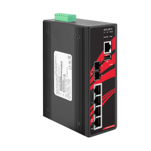 Antaira LMP-0501-V2 5-Port PoE+ Managed Ethernet Switch, 30 watts / Port with 100FX Port
