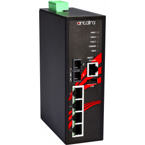 Antaira LMP-0501 5-Port  PoE+ Managed Ethernet Switches, 30W/Port, 100FX Port