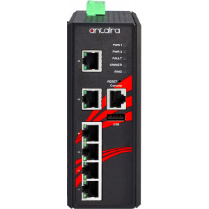 Antaira LMP-0600 6-Port  PoE+ Managed Ethernet Switches, 30W/Port