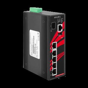 Antaira LMP-0601G-SFP-V2 6-Port  PoE+ Managed Gb Ethernet Switch, SFP Slot