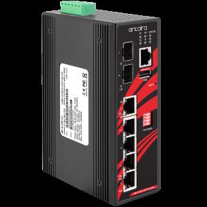Antaira LMP-0702G-SFP-bt-V2 7-Port Managed Gigabit PoE++ Switchwith 2 SFP Slots