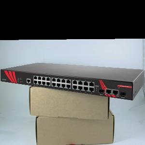 Antaira LMP-2602G-SFP (-T) 26-Port Managed Gigabit Power over Ethernet Switch, 2 SFP Slots