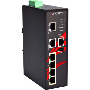 Antaira LMX-0600 6-Port Managed Ethernet Switch