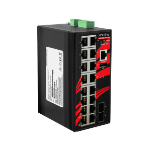 Antaira LMX-1802G-SFP (-T) 18-Port Managed Gigabit Ethernet Switch with 2 SFP slots