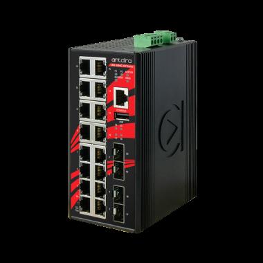 Antaira LMX-2004G-SFP (-T) 20-Port Managed Gigabit Ethernet Switch, 4 SFP Slots