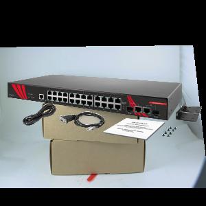 Antaira LMX-2602G-SFP (-T) 26-Port Managed Gigabit Ethernet Switch, 2 SFP Slots
