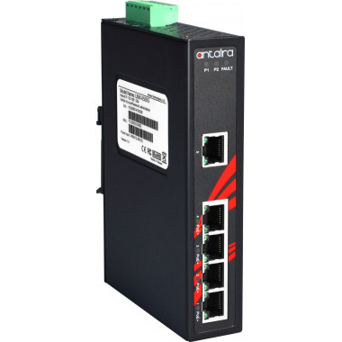 Antaira LNP-0500G 5-Port PoE+ Unmanaged Gb Ethernet Switch, 30 W / Port