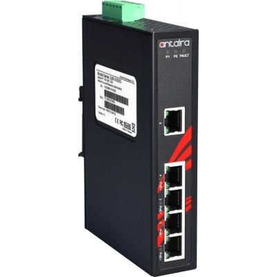 Antaira LNP-0500G 5-Port PoE+ Unmanaged Gb Ethernet Switch, 30W / Port