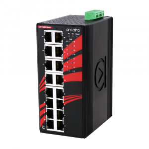 Antaira LNP-1600G (-T) 16-Port Unmanaged Gigabit Ethernet Switch