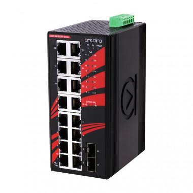 Antaira LNP-1802G-SFP (-T) 18-Port Unmanaged Gigabit Ethernet Switch