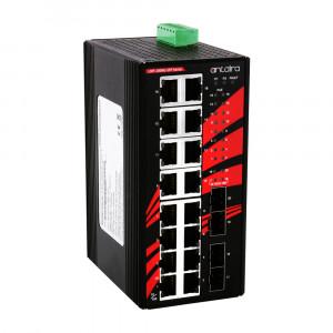 Antaira LNP-2004G-SFP (-T) 20-Port Unmanaged Gigabit Ethernet Switch