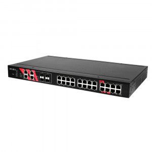 Antaira LNP-2804GN-SFP-T 28-Port PoE Managed Gigabit Ethernet Switch