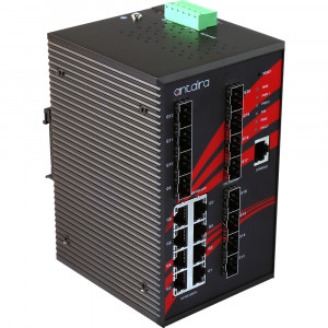 Antaira LNX-2012GN-SFP 20-Port Managed Ethernet Switch, 12 SFP Slots