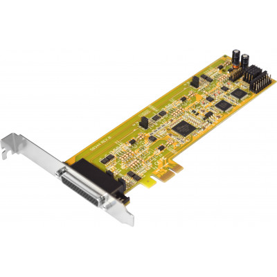 4-port RS-422/485 PCI Express Card, Oxford Single Chip Solution, Low & Standard Profile Brackets Included (WHQL Certified)