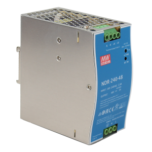 Antaira NDR-240 240W Industrial DIN Rail Power Supply, 24V or 48V Output