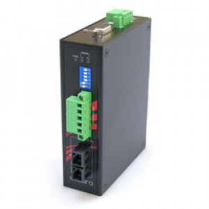 Antaira STF-401C-CM02-T Industrial Compact RS-232/422/485 to Fiber Converter