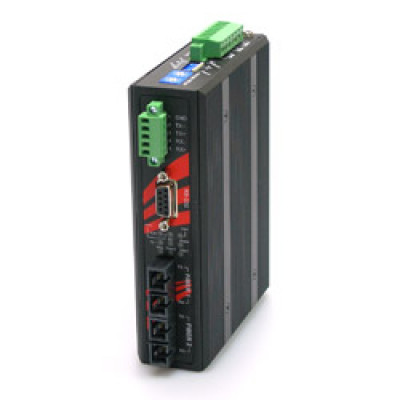 Antaira STF-502C-CM02 Industrial RS-232/422/485 Dual Fiber Converter, Isolation