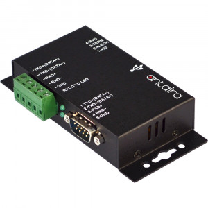 Antaira UTS-401BK-SI Industrial USB To 1-Port RS-422/485 Converter, Isolation