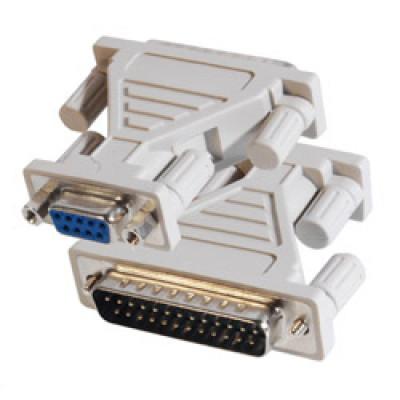 DB9 Female to DB25 Male Serial Adapter, AD-DB9F-DB25M