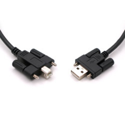 USB3.0 Cable, A to B with Locking Feature, 2M, Black, CB-USB3.0-A-B-2M-K