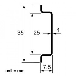 DIN Rail Track, 10 or 20 Inches Long