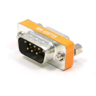 Mini Gender Changer DB9 M/M Null Modem, GC-M09M09-N