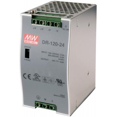 Antaira DR-120 120W Industrial DIN Rail Power Supply, 12V, 24V or 48V Out