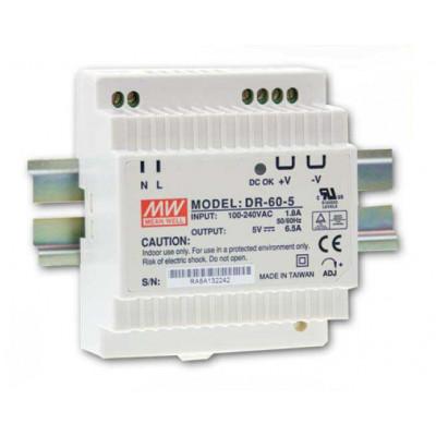 Antaira DR-60 60W Industrial DIN Rail Power Supply, 5V, 12V, 15V, or 24V Out