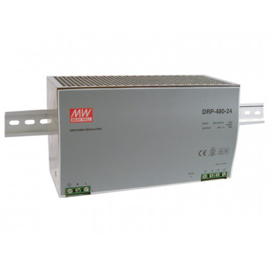 Antaira DRP-480S 480W Industrial DIN Rail Power Supply, PFC, 24V or 48V Out