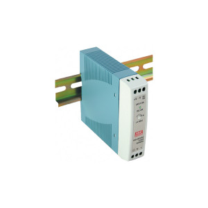 Antaira MDR-10 10W Miniature DIN-Rail Power Supply, 12V or 24V Output