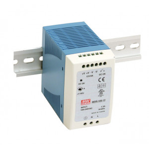 Antaira MDR-100 100W Miniature DIN Rail Power Supply, 12V, 24V or 48V Out