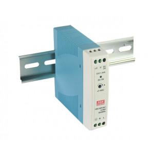 Antaira MDR-20 20W Miniature DIN Rail Power Supply, 5V, 12V, 15V, or 24V Out