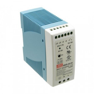 Antaira MDR-40 40W Miniature DIN Rail Power Supply, 5V, 12V, 24V, or 48V Out