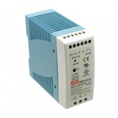 Antaira MDR-40 40W Miniature DIN Rail Power Supply, 5V, 12V, 24V, or 48V Out
